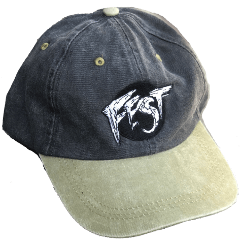 40d85774a8d0b Embroidered FEST logo on a dad hat.   Two color variations available.
