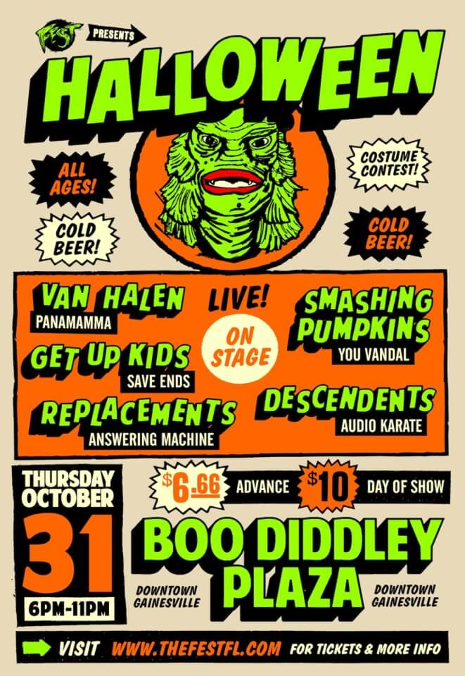 Fest does Halloween! Oct 31st at Boo Diddley Plaza